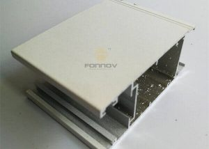Aluminum Window Profile 6063 Powder Coated White Color FONNOV