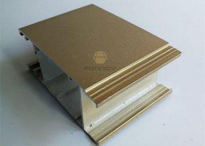 Anodized Aluminum Profiles 6063t5 Champagne Color FONNOV