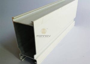 Door Profile Aa6063T5 Powder Coated White Color For Door FONNOV