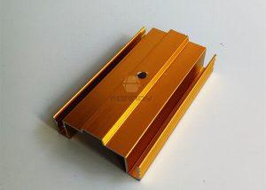 Gold Anodized Aluminum Profiles 6063T5 For Door FONNOV