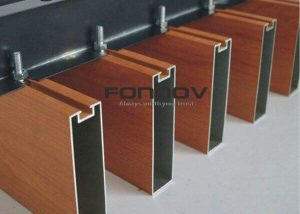 Aluminum Baffle Ceiling Extruded Profiles Wood Color 6063 fonnov aluminium