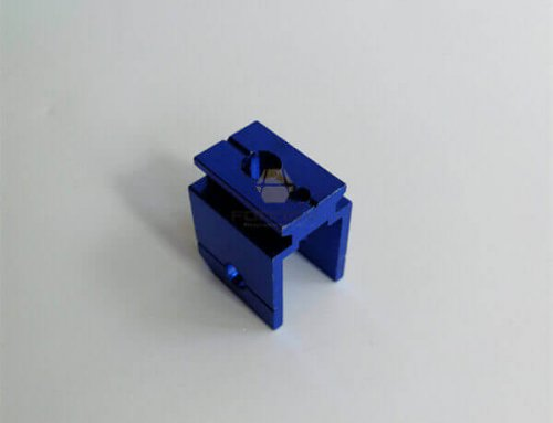 Blue Anodized Aluminum Hole Punch CNC Machining Cutting