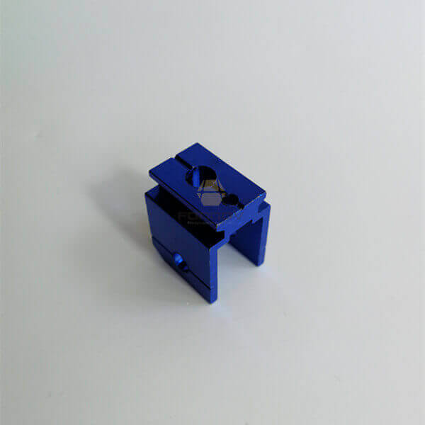 Blue Anodized Aluminum Hole Punch CNC Machining Cutting fonnov