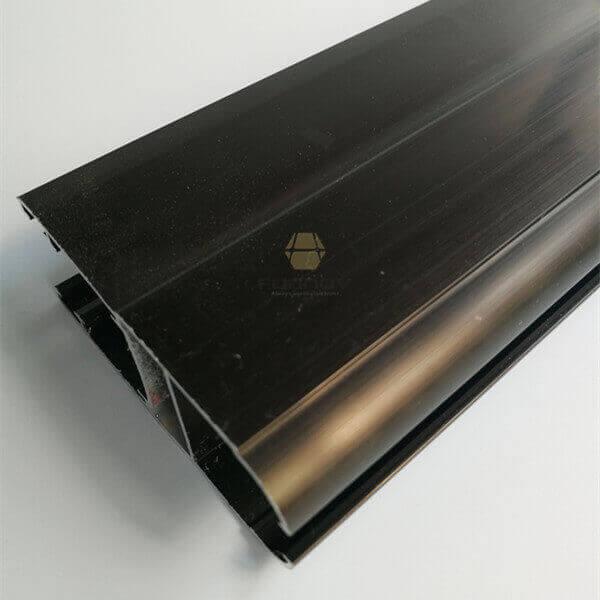 Dark Bronze Anodized Aluminum Extruded Profile 6063t5 fonnov