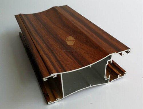 Wood Look Aluminium Extruded Profiles For Window Door
