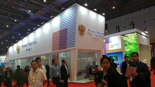 russia pavilion china import expo- fonnov aluminium
