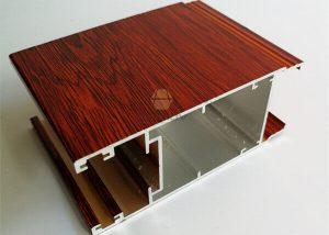 Powder Coat Wood Grain Finish Aluminum Extrusion-fonnov aluminium