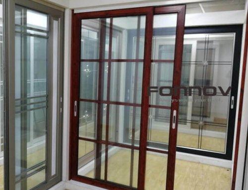 Aluminum Door Frame Extrusions Wood Grain Coating