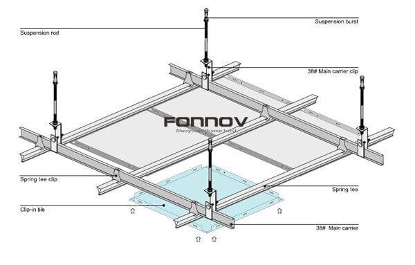 clip in ceiling tiles installation-fonnov aluminium