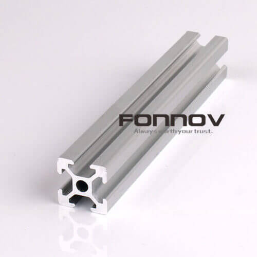 6063 6060 Anodized V Slotted Extruded Profile - FONNOV ALUMINIUM