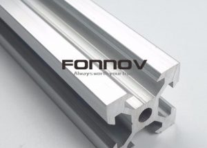Anodized T Slotted 2020 Extrusion -fonnov aluminium