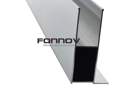 black powder coating extruded shower enclosure - fonnov aluminium (1)