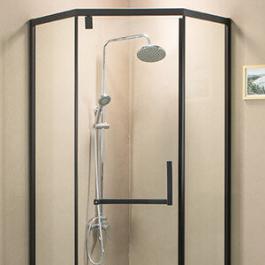 black white aluminium profiles for shower enclosure frame - fonnov aluminium