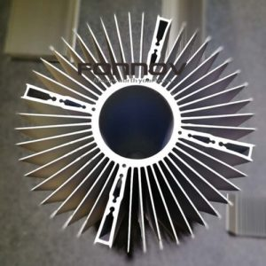 round aluminum heatsink radiator for cooling fan- fonnov aluminium
