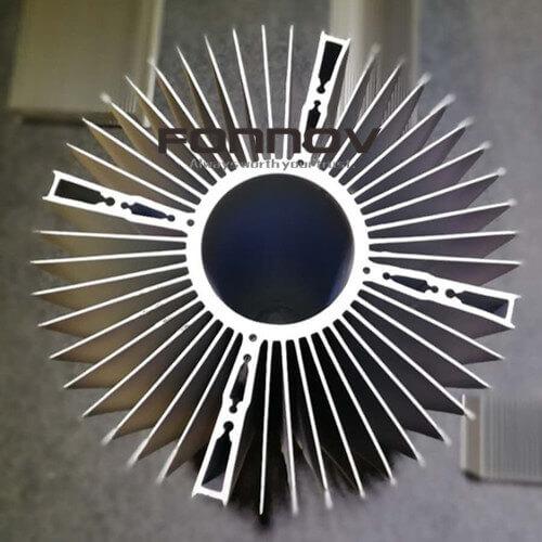 round aluminum heatsink radiator for cooling fan- fonnov aluminium