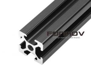 v slot aluminum profile black anodizing 2020 4040 - fonnov aluminium