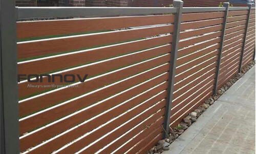 Aluminum Fence Profile With Powder Coated And Wood Finish