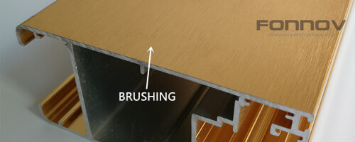 brushing anodizing -fonnov aluminium