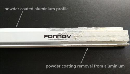 remove powder coating from aluminum-fonnov aluminium