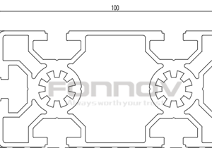 100x50 t slot aluminum extrusion1-fonnov