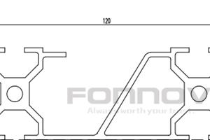 120x40 slot aluminum extrusion-fonnov
