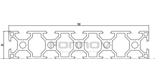 150x30 t slot aluminum extrusion 1-fonnov