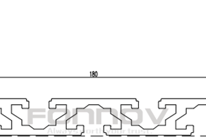 180x15 slot aluminum extrusion-fonnov