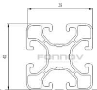 4040 aluminum profile-fonnov