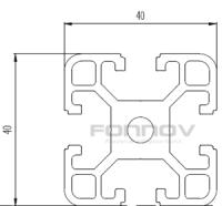4040 slot aluminium extrusion-fonnov