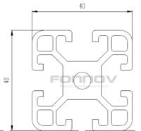 4040 slot aluminum extrusion-fonnov