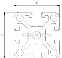 4040 t slot aluminum extrusion-fonnov