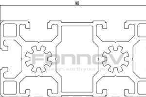 90x45 t slot aluminium profile-fonnov