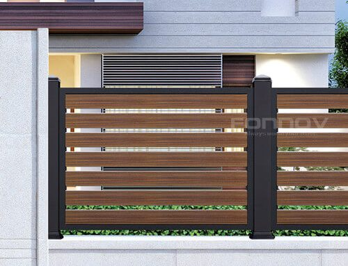 Aluminium Slat Fencing With Timber Look
