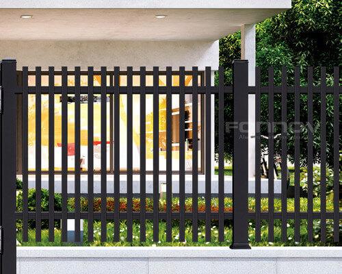 black aluminum fence-fonnovaluminium