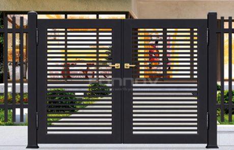 aluminium horizontal slat fence gate-fonnovaluminium