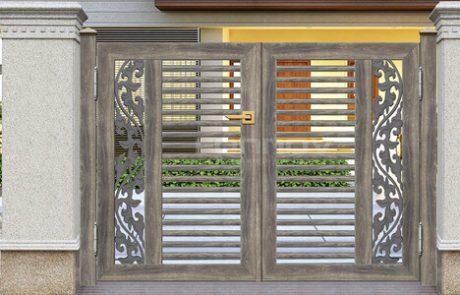 timber aluminium slat fencing gate-fonnovaluminium